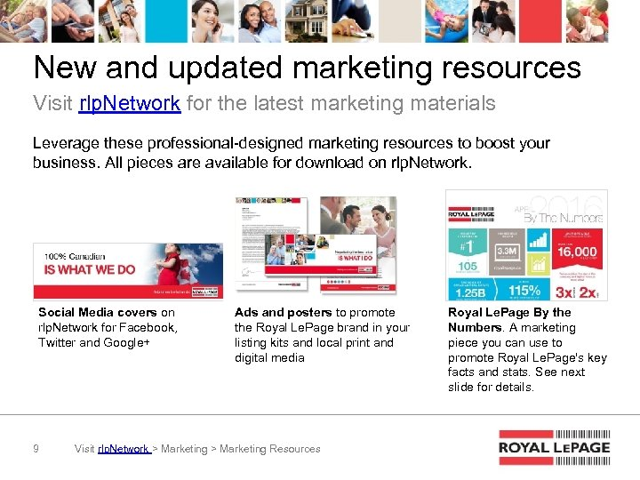 New and updated marketing resources Visit rlp. Network for the latest marketing materials Leverage