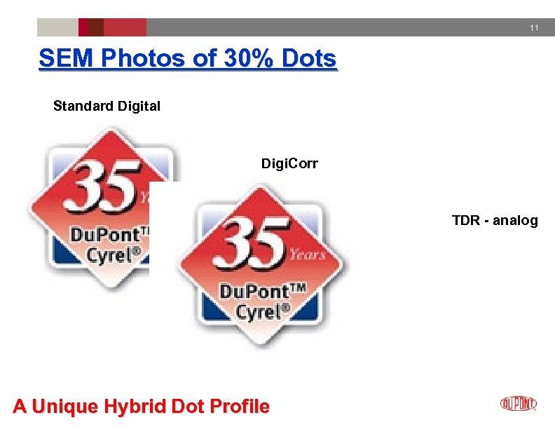 11 SEM Photos of 30% Dots Standard Digital Digi. Corr TDR - analog A