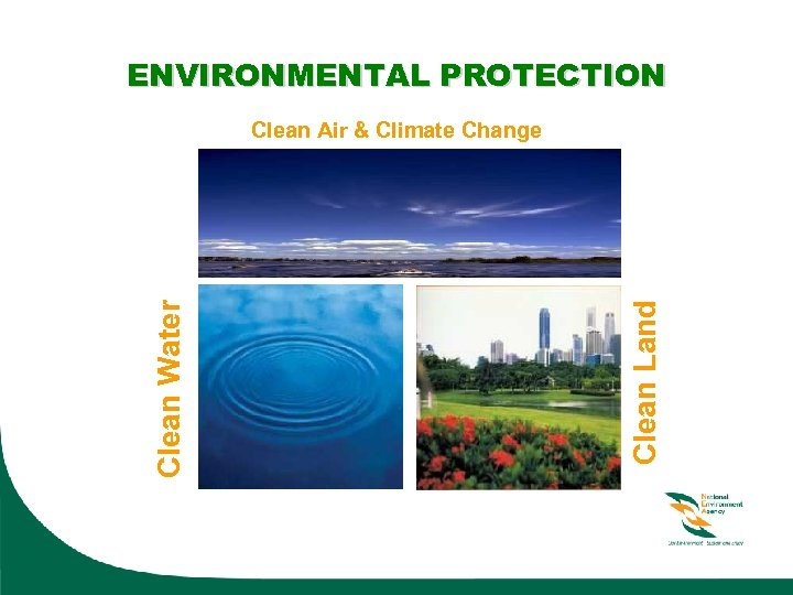 ENVIRONMENTAL PROTECTION Clean Land Clean Water Clean Air & Climate Change