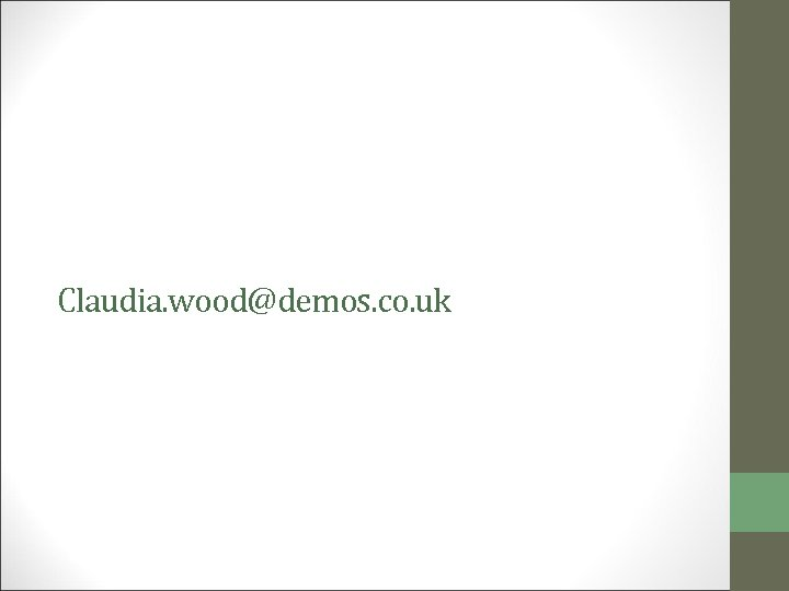 Claudia. wood@demos. co. uk