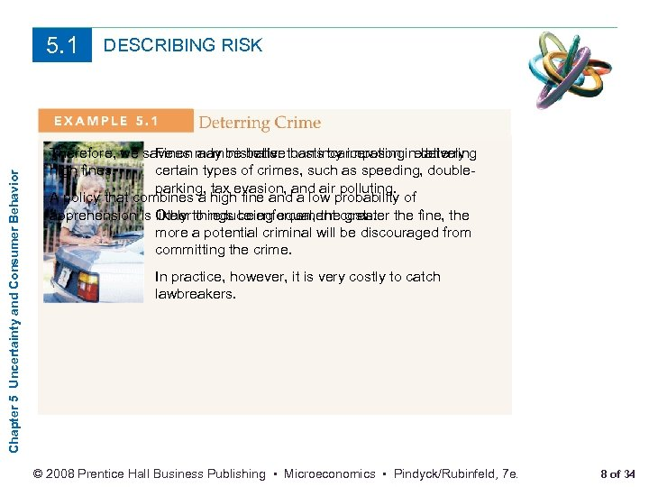 Chapter 5 Uncertainty and Consumer Behavior 5. 1 DESCRIBING RISK Therefore, we save on