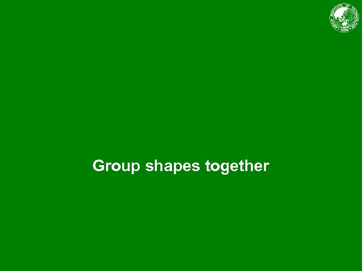 Group shapes together
