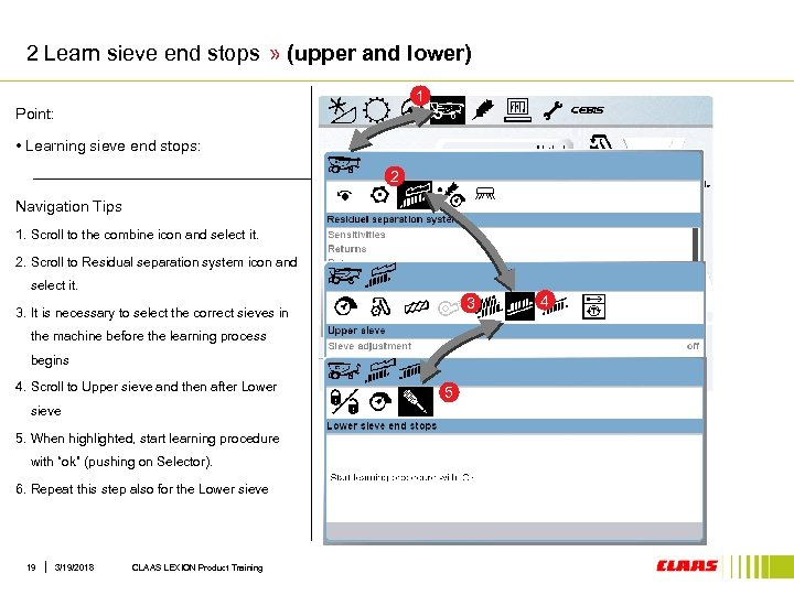 2 Learn sieve end stops » (upper and lower) 1 Point: • Learning sieve