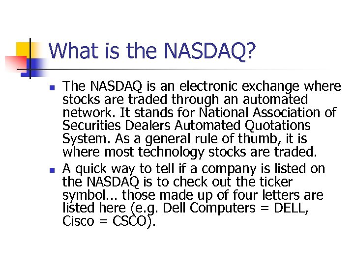 how does the nasdaq quoting convention work Quoting convention of nasdaq dealers prompts a justice department probe michael baye and patrick scholten prepared this case study to serve as the basis for classroom discussion rather than to represent economic or legal fact.