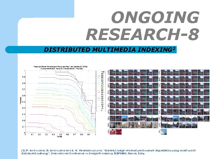 ONGOING RESEARCH-8 DISTRIBUTED MULTIMEDIA INDEXING 2 [2] P. Androutsos, D. Androutsos and A. N.