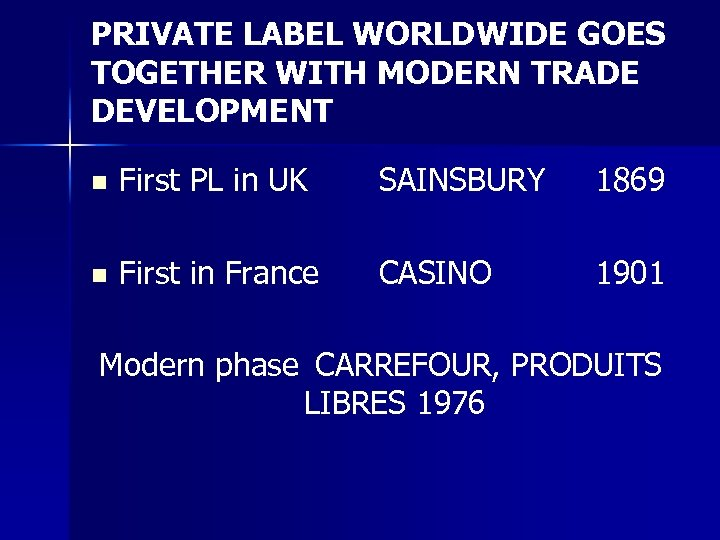 PRIVATE LABEL WORLDWIDE GOES TOGETHER WITH MODERN TRADE DEVELOPMENT n First PL in UK