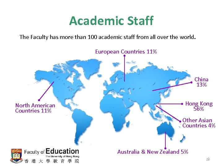 Academic Staff The Faculty has more than 100 academic staff from all over the