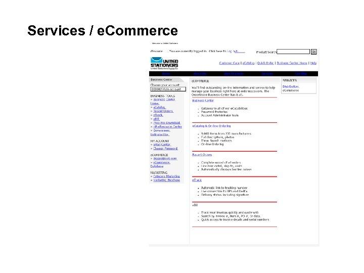 Services / e. Commerce