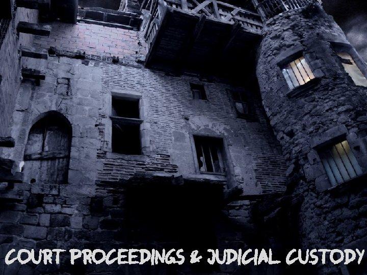 COURT PROCEEDINGS & JUDICIAL CUSTODY