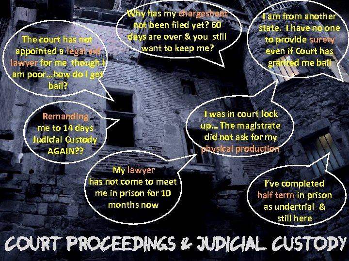 The court has not appointed a legal aid lawyer for me though I am