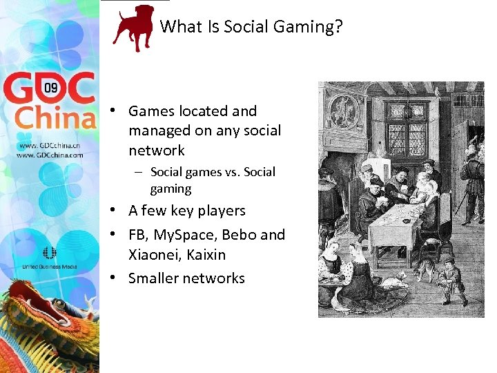 What Is Social Gaming? • Games located and managed on any social network –