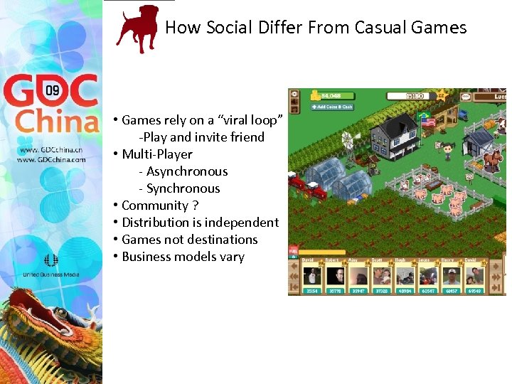 "How Social Differ From Casual Games • Games rely on a ""viral loop"" -Play"