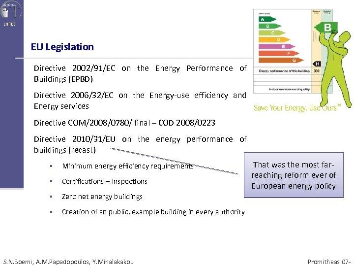 LHTEE EU Legislation Directive 2002/91/EC on the Energy Performance of Buildings (EPBD) Directive 2006/32/EC