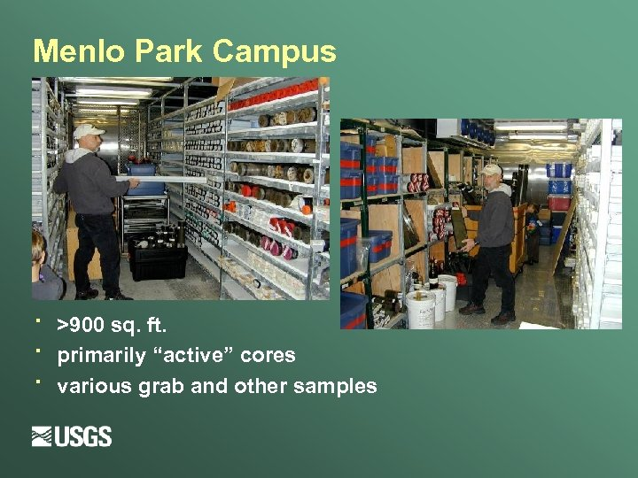 "Menlo Park Campus · · · >900 sq. ft. primarily ""active"" cores various grab"