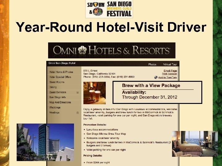 Year-Round Hotel-Visit Driver