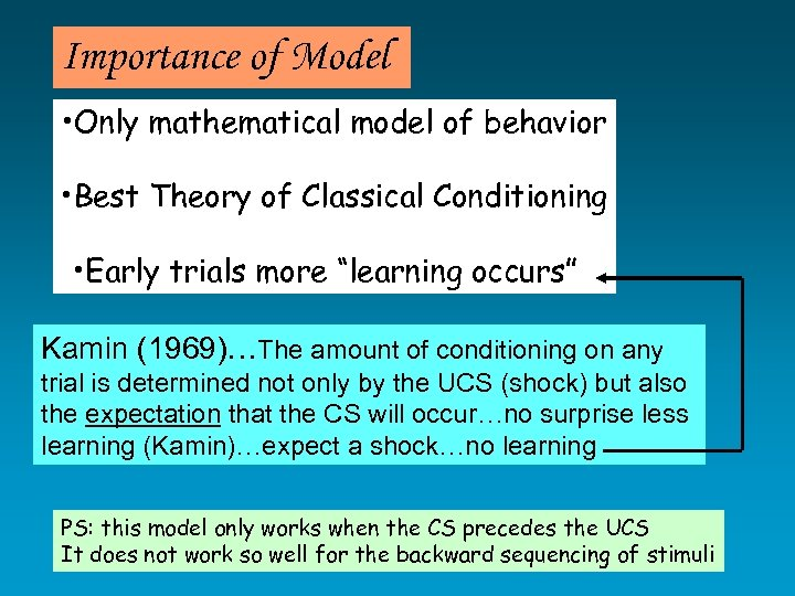 Importance of Model • Only mathematical model of behavior • Best Theory of Classical