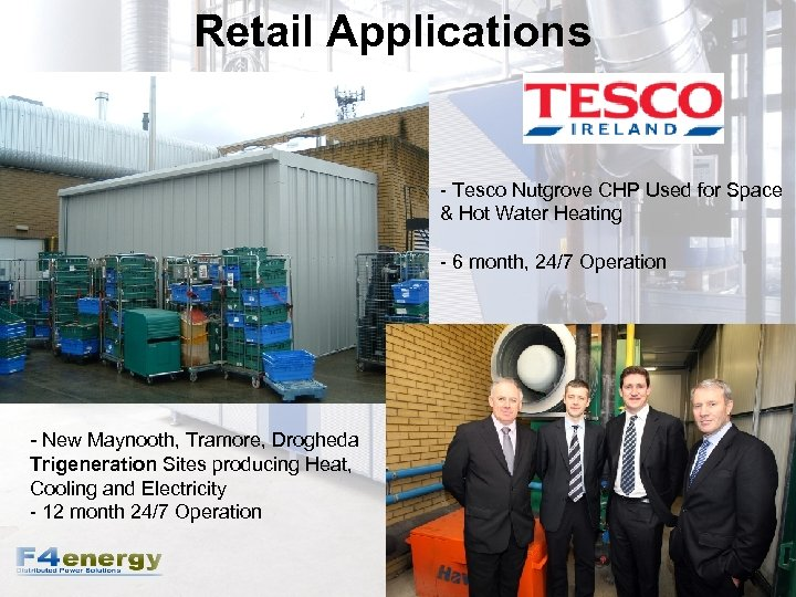 Retail Applications - Tesco Nutgrove CHP Used for Space & Hot Water Heating -