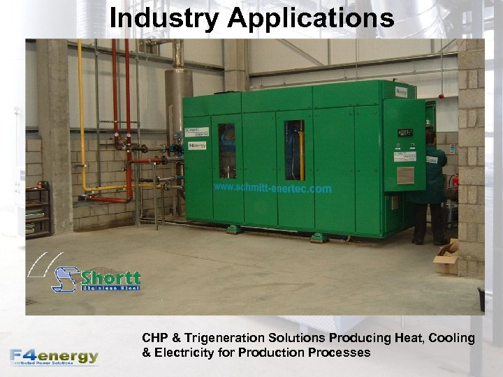 Industry Applications CHP & Trigeneration Solutions Producing Heat, Cooling & Electricity for Production Processes