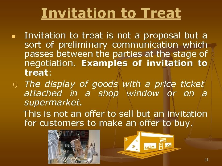 Offer proposal n n n s 2 a of the invitation to treat n 1 invitation to treat is not a proposal but a stopboris Choice Image