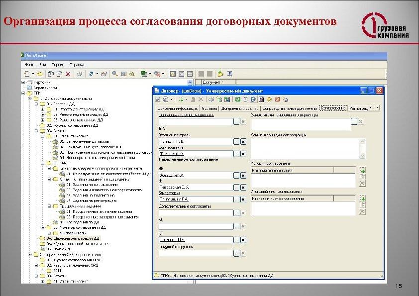 Организация процесса согласования договорных документов 15