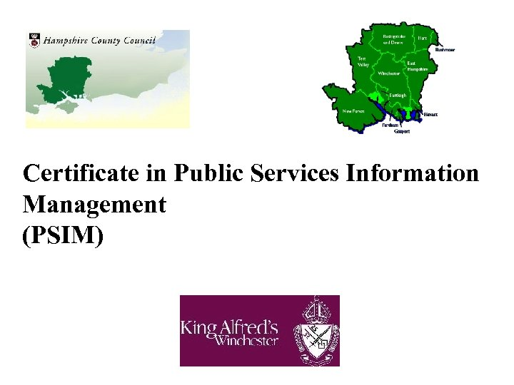 Certificate in Public Services Information Management (PSIM)