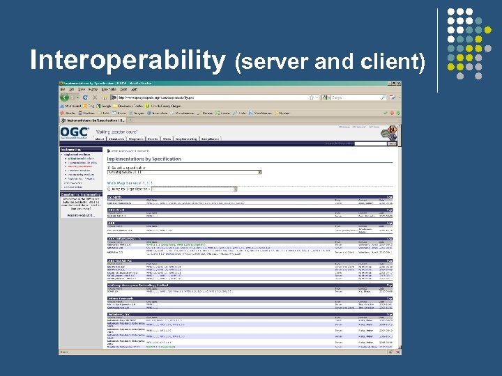 Interoperability (server and client)