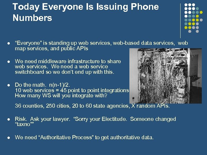 "Today Everyone Is Issuing Phone Numbers l ""Everyone"" is standing up web services, web-based"