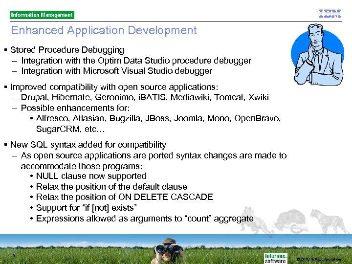 Enhanced Application Development Stored Procedure Debugging – Integration with the Optim Data Studio procedure