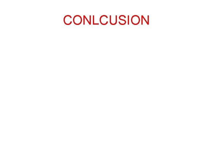 CONLCUSION