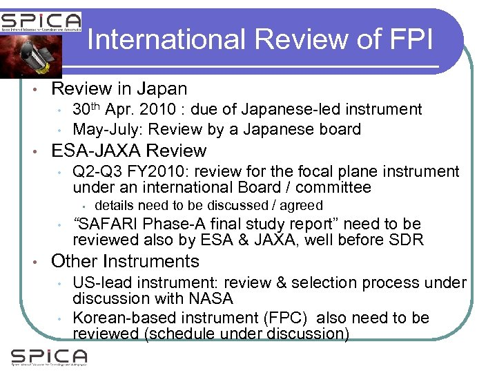 International Review of FPI • Review in Japan • • • 30 th Apr.