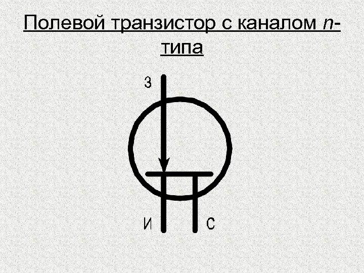 Полевой транзистор с каналом nтипа