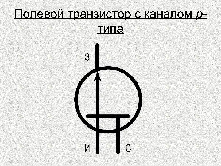 Полевой транзистор с каналом pтипа