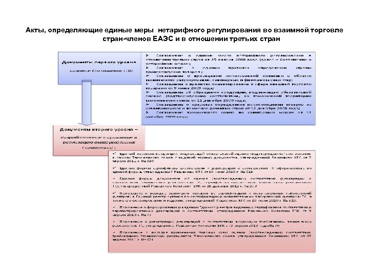 Акты, определяющие единые меры нетарифного регулирования во взаимной торговле стран-членов ЕАЭС и в отношении