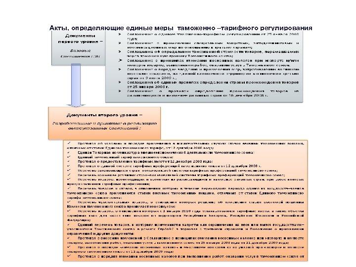 Акты, определяющие единые меры таможенно –тарифного регулирования