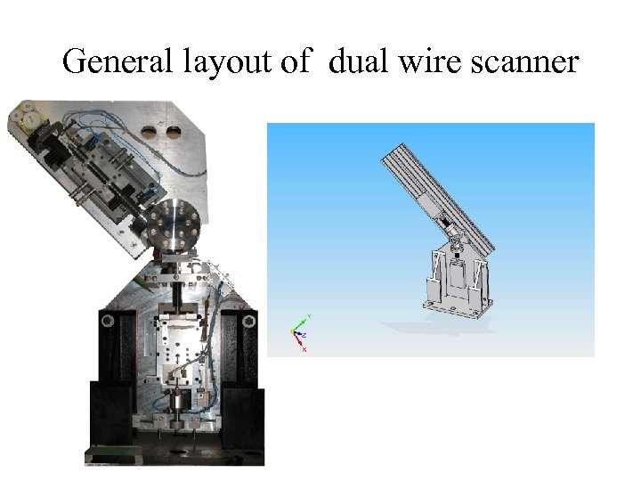 General layout of dual wire scanner