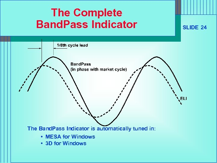 The Complete Band. Pass Indicator The Band. Pass Indicator is automatically tuned in: •