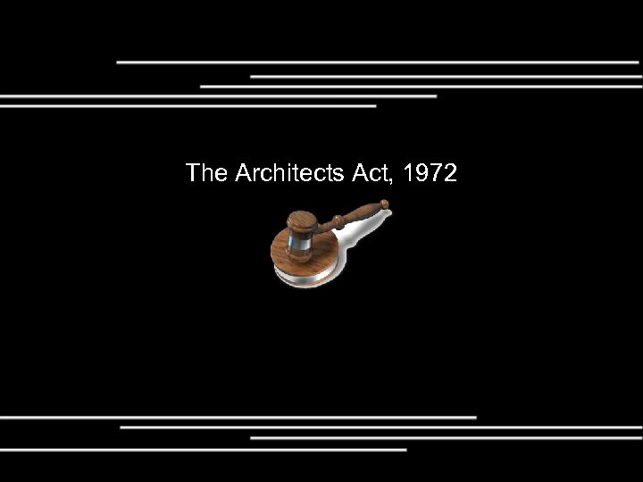 The Architects Act, 1972