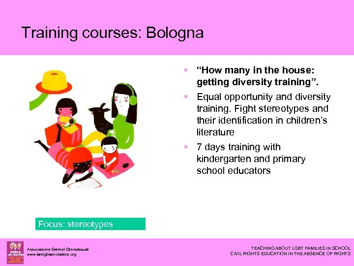 """Training courses: Bologna """"How many in the house: getting diversity training"""". Equal opportunity and"""