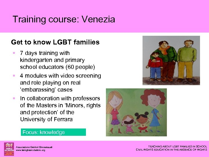 Training course: Venezia Get to know LGBT families 7 days training with kindergarten and