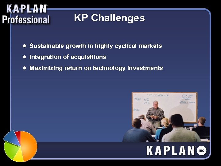 KP Challenges Sustainable growth in highly cyclical markets Integration of acquisitions Maximizing return on
