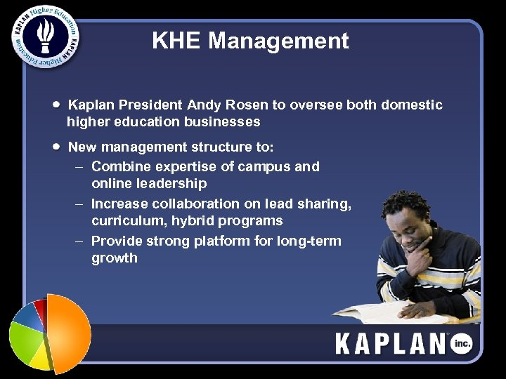 KHE Management Kaplan President Andy Rosen to oversee both domestic higher education businesses New
