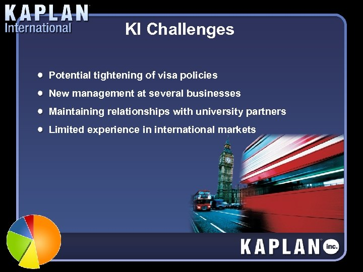 KI Challenges Potential tightening of visa policies New management at several businesses Maintaining relationships
