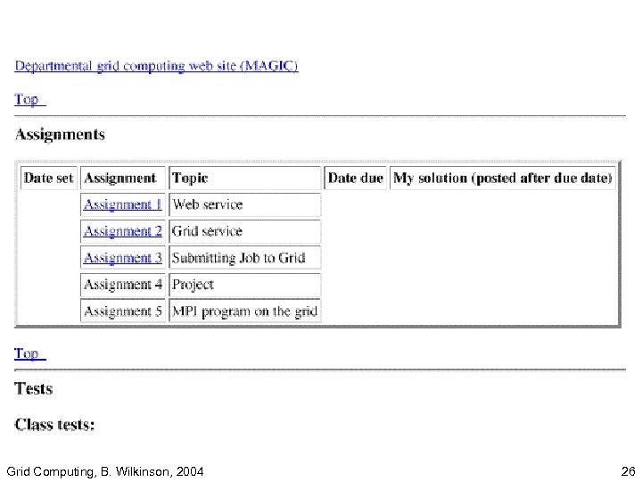 Grid Computing, B. Wilkinson, 2004 26