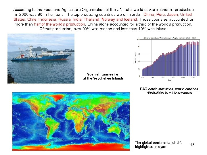 According to the Food and Agriculture Organization of the UN, total world capture fisheries