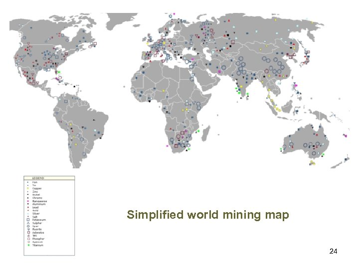 Simplified world mining map 24