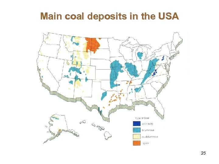 Main coal deposits in the USA 25