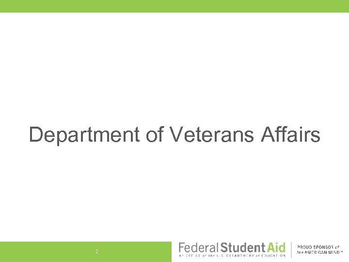 Department of Veterans Affairs 2