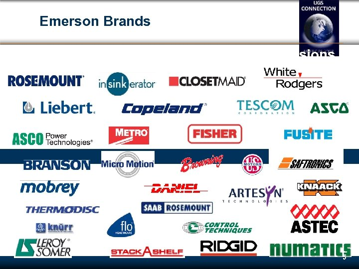 Emerson Brands $20. 1 Billion in revenues with over 60 divisions 5