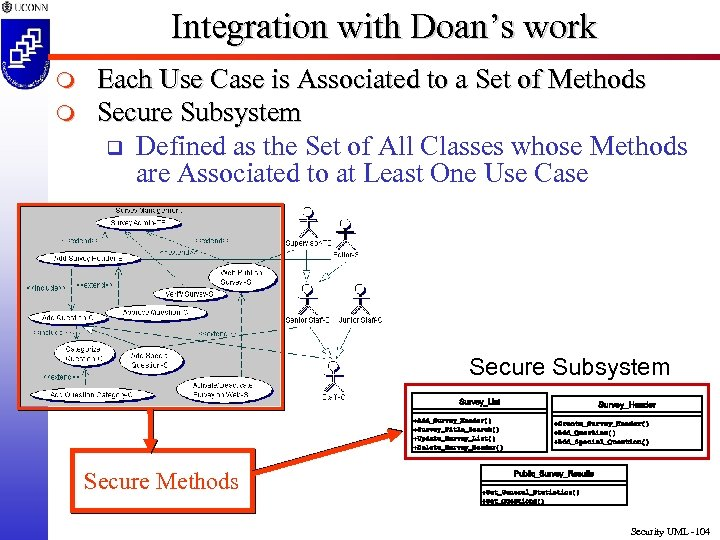 Integration with Doan's work m m Each Use Case is Associated to a Set