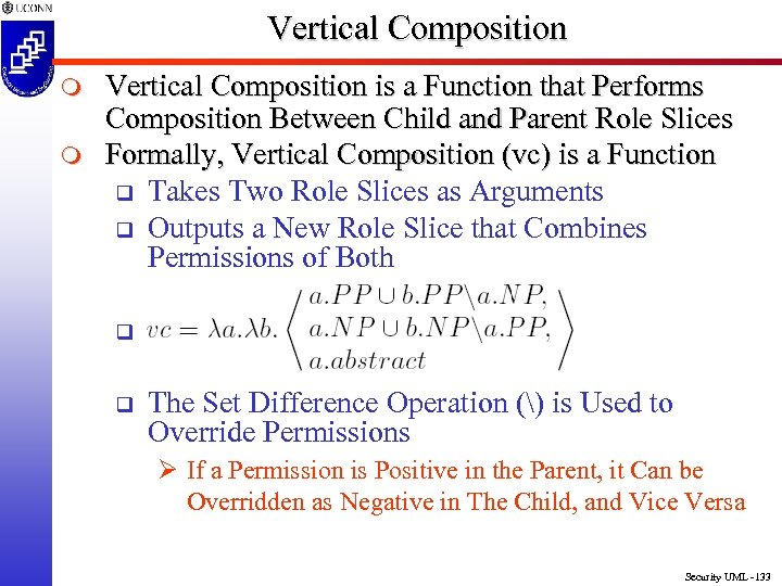 Vertical Composition m m Vertical Composition is a Function that Performs Composition Between Child